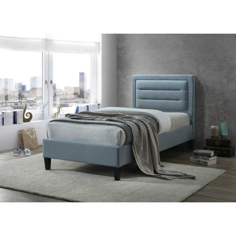 Beds Are Uzzz Picasso Blue Fabric Bed