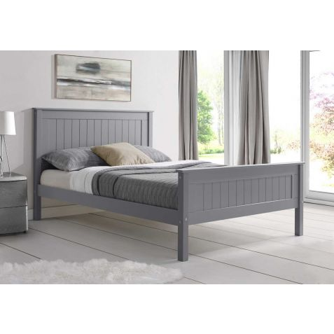 Beds Are Uzzz Taurus Grey Wood Bed