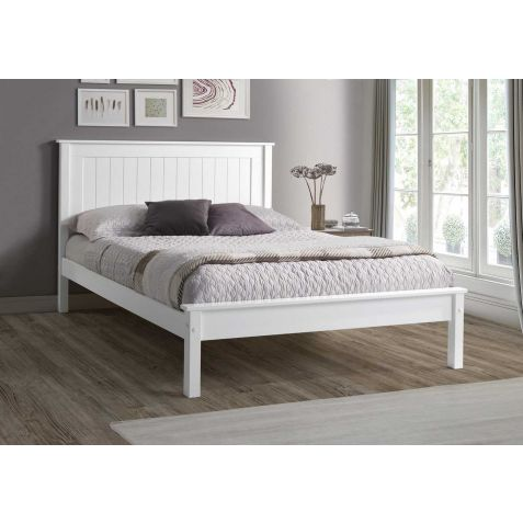 Beds Are Uzzz Taurus Low Foot End White Wood Bed