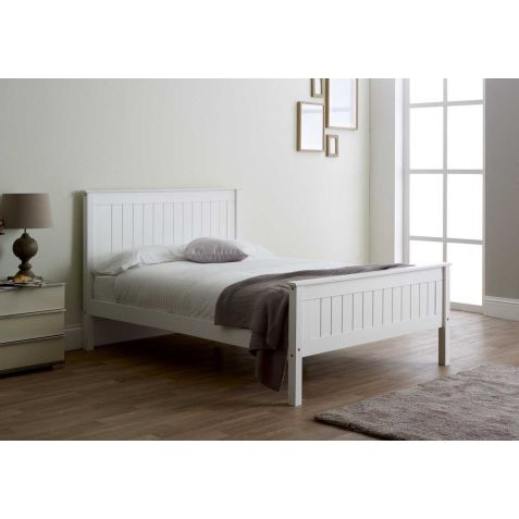 Beds Are Uzzz Taurus White Wood Bed