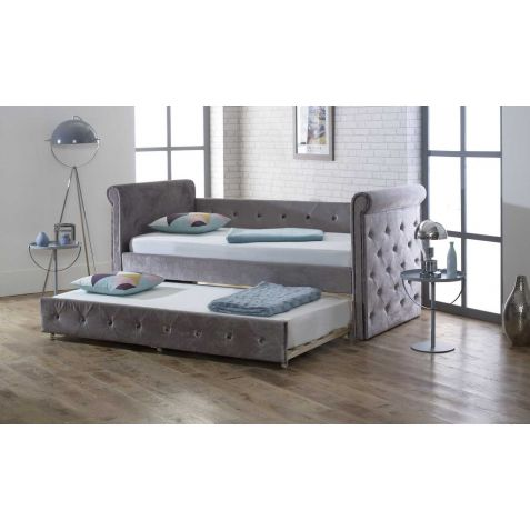 Beds Are Uzzz Zodiac Silver Fabric Guest Bed & Trundle
