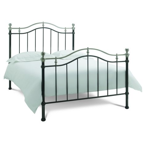 Bentley Designs Chloe Black & Shiny Nickel Metal Bedstead