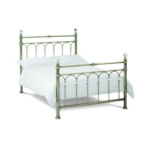 Bentley Designs Krystal Antique Brass Metal Bedstead