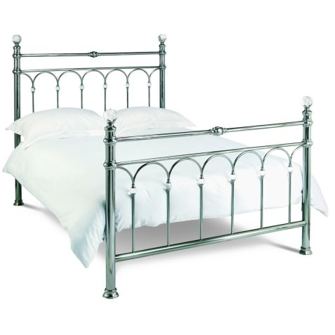 Bentley Designs Krystal Antique Nickel Metal Bedstead