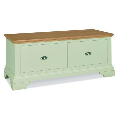 Bentley Design Hampstead Soft Grey & Pale Oak Blanket Box