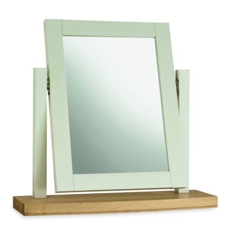 Bentley Design Hampstead Soft Grey & Pale Oak Vanity Mirror