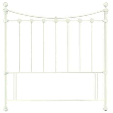 Bentley Designs Alice White Metal Headboard