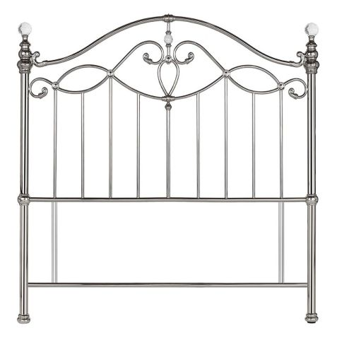 Bentley Designs Elena Shiny Nickel Metal Headboard