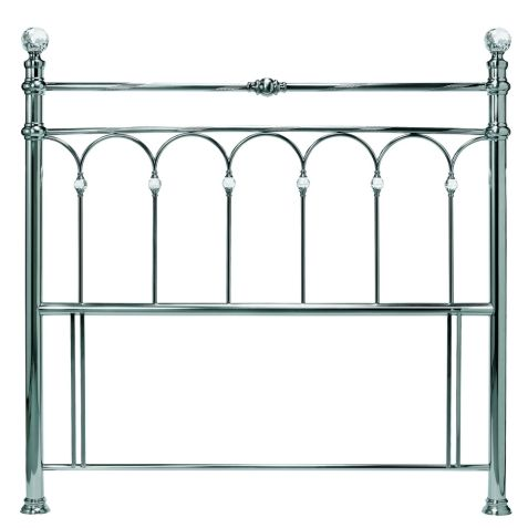 Bentley Designs Krystal Antique Nickel Metal Headboard