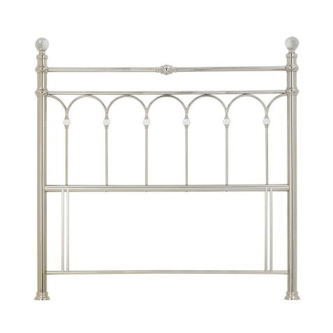 Bentley Designs Krystal Shiny Nickel Metal Headboard