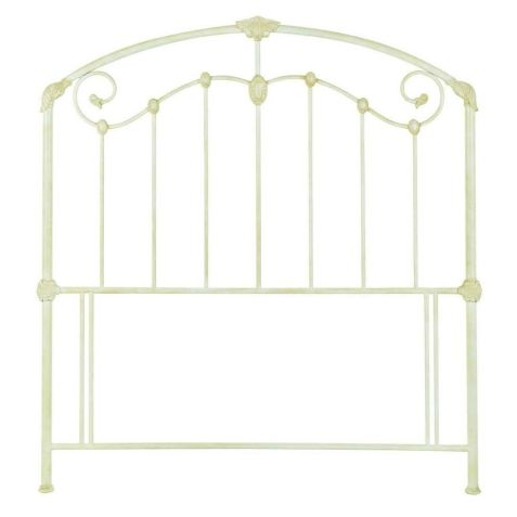 Bentley Designs Lauren Antique Ivory Metal Headboard