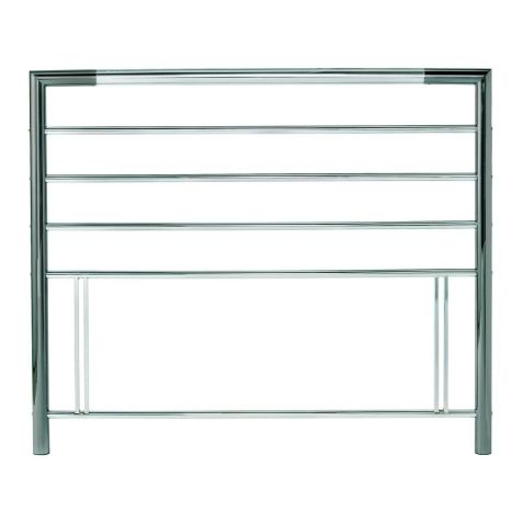 Bentley Designs Urban Nickel / Chrome Metal Headboard