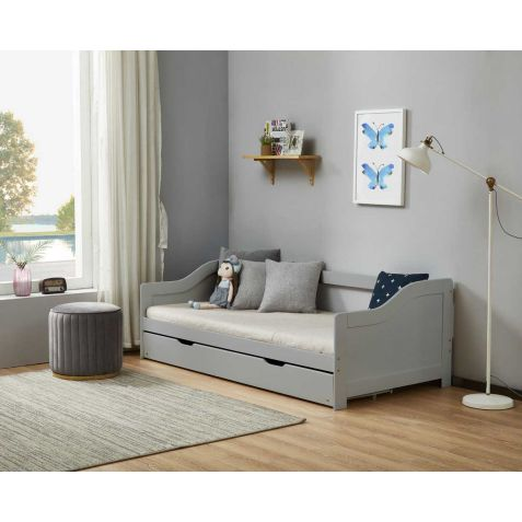 Birlea Brixton Grey Wood Guest Bed