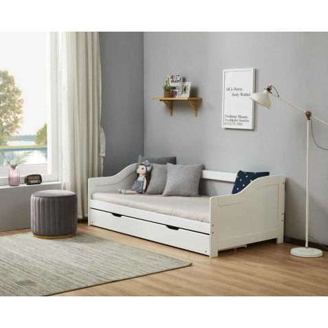 Birlea Brixton White Wood Guest Bed