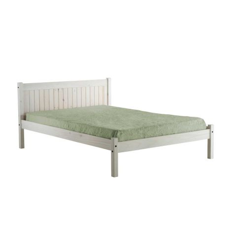Birlea Rio White Wash Wood Bedstead