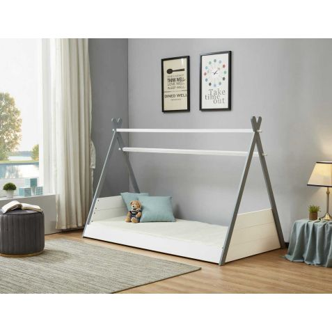 Birlea Teepee White & Grey Bed