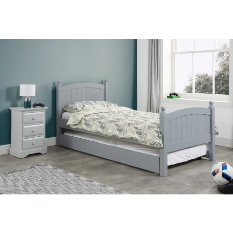Birlea Whitehaven Grey Wood Guest Bed