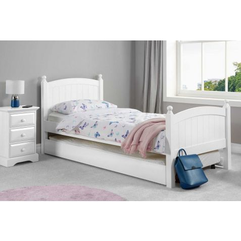 Birlea Whitehaven White Wood Guest Bed