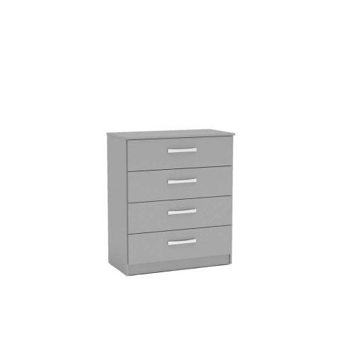 Birlea Lynx Grey 4 Drawer Chest