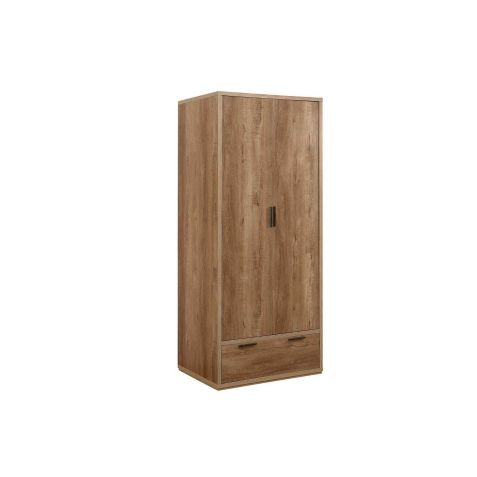 Birlea Stockwell Rustic Oak Effect 2 Door 1 Drawer Wardrobe