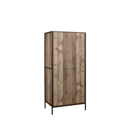 Birlea Urban Rustic 2 Door Wardrobe