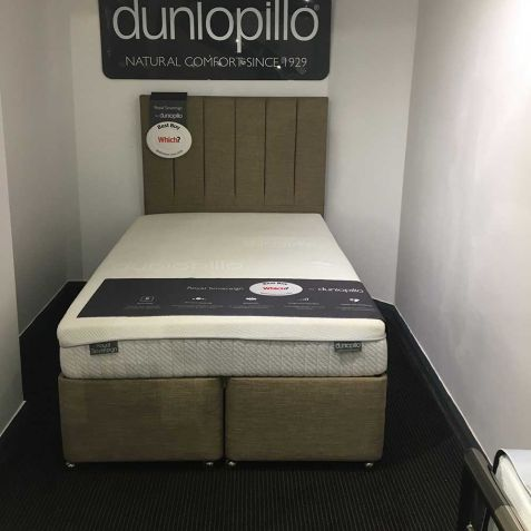 Dunlopillo Royal Sovereign Divan Set With Noble Headboard Hemel Branch: Small Double - 120x190cm