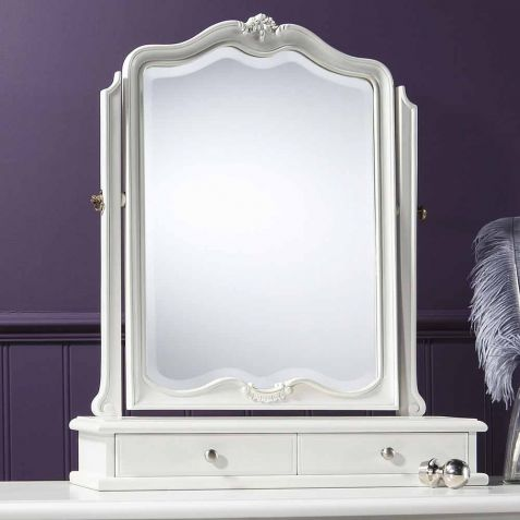 Frank Hudson Chic Vanilla White Dressing Table Mirror