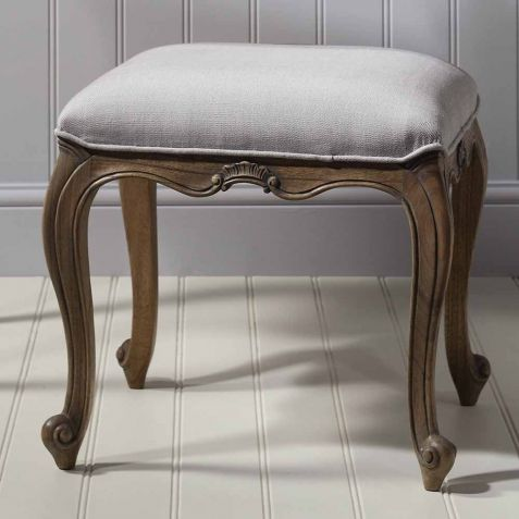 Frank Hudson Chic Weathered Dressing Table Stool
