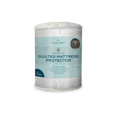 Hilary Devey Luxury Quilted Wool Mattress Protector