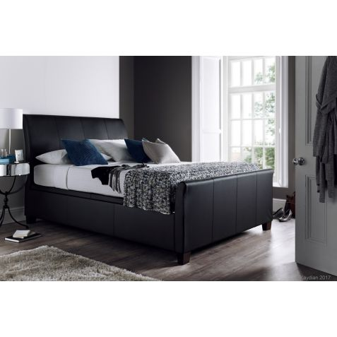 Kaydian Allendale Ottoman in Black Bonded Leather