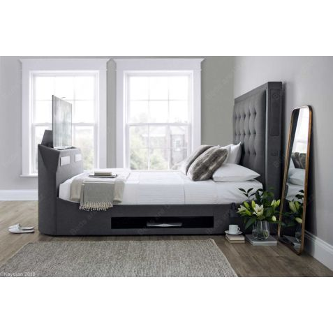Kaydian Titan Media Bed in Berwick Charcoal Grey