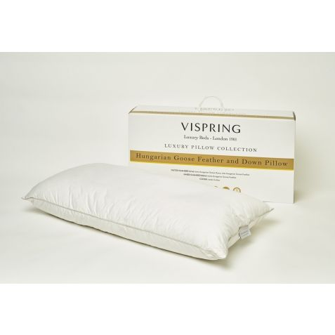 Vispring Hungarian Goose Feather & Down Pillow