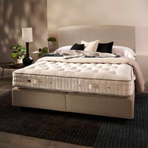 Vispring Herald Superb Divan Set With Triton Headboard Maidenhead Branch: Standard Kingsize - 150x200cm