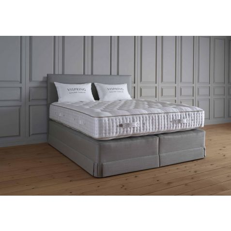 Vispring Magnificence Divan Set With Atlas Headboard Maidenhead Branch: Standard Super Kingsize - 180x200cm