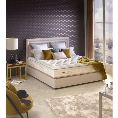 Vispring Tiara Superb Divan Set With Atlas Headboard Hemel Branch: Standard Super Kingsize - 180x200cm